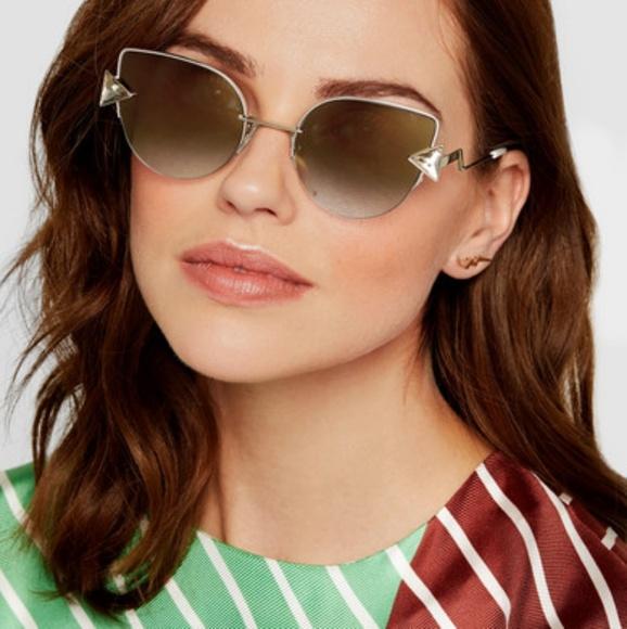 2c435db74ddb NWT Fendi cat eye crystal embellished sunglasses